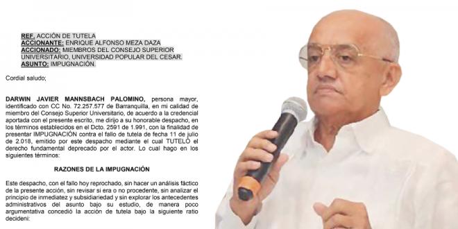 El 'parapeto' de Tutela con la que Enrique Meza seguiría en la UPC
