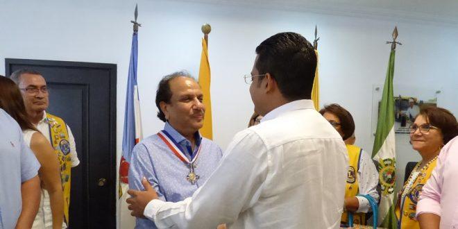 Presidente de la Fundación Club de Leones Internacional, fue exaltado con la Medalla María Concepción Loperena