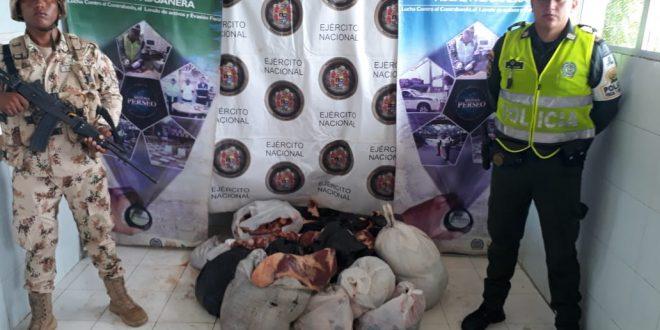 Más de 750 kilos de carne de procedencia extranjera fue incautada