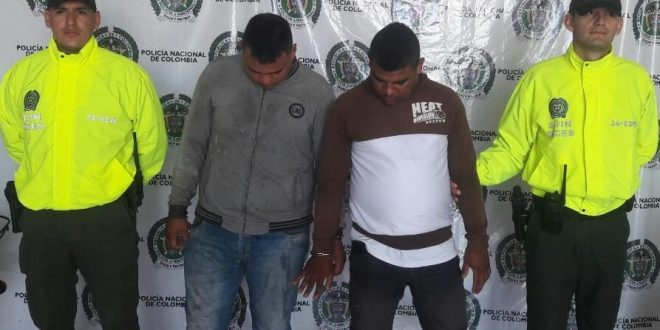 Capturadas dos personas por hurto y homicidio en Valledupar