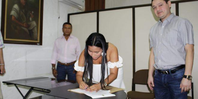 La nueva secretaria General del Concejo de Valledupar tomó posesión